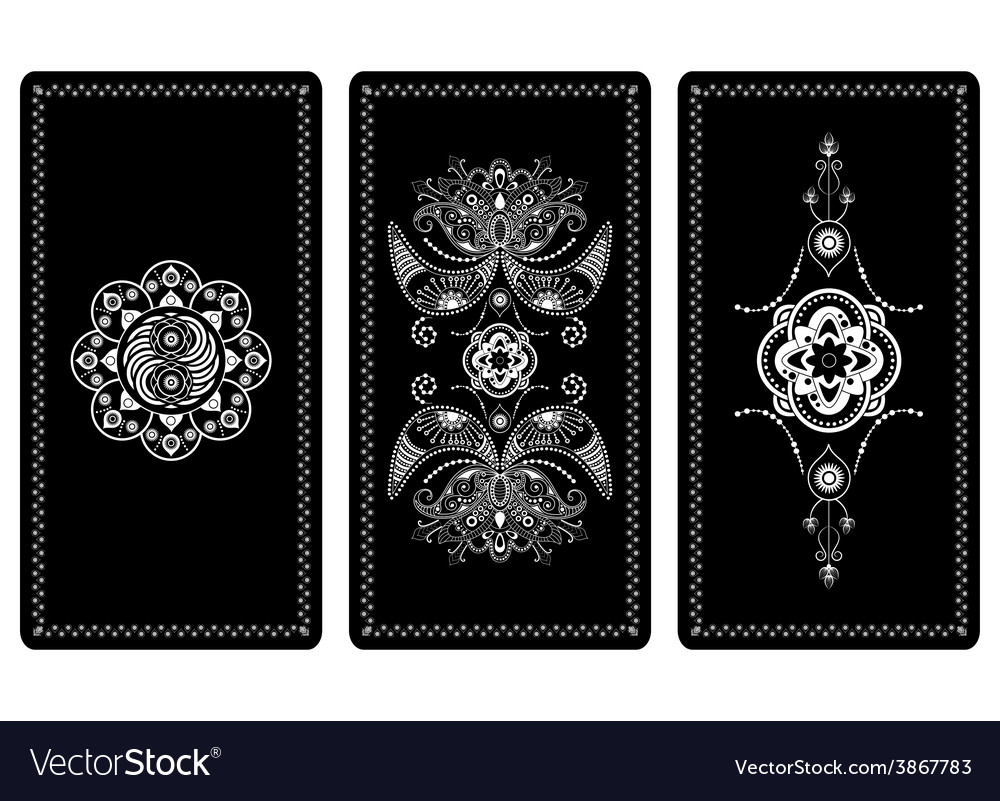 Design for tarot cards vector