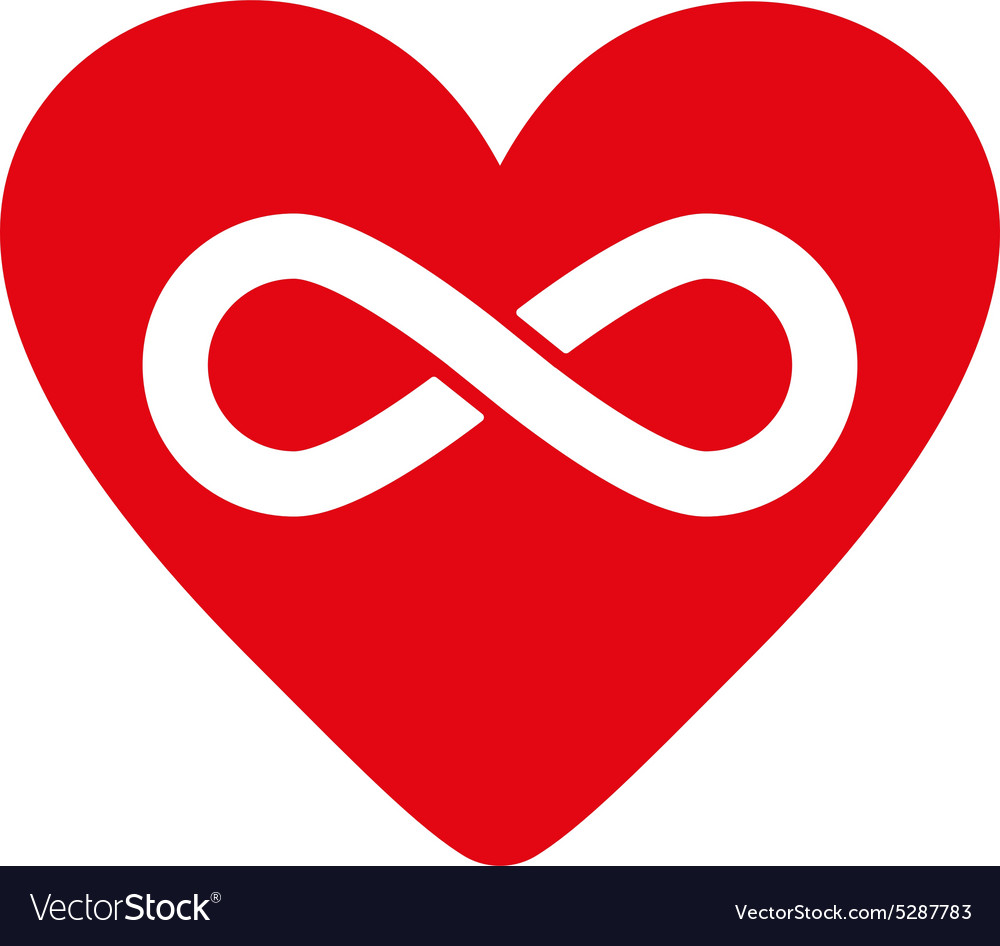 Heart and infinity icon heart and infinity vector