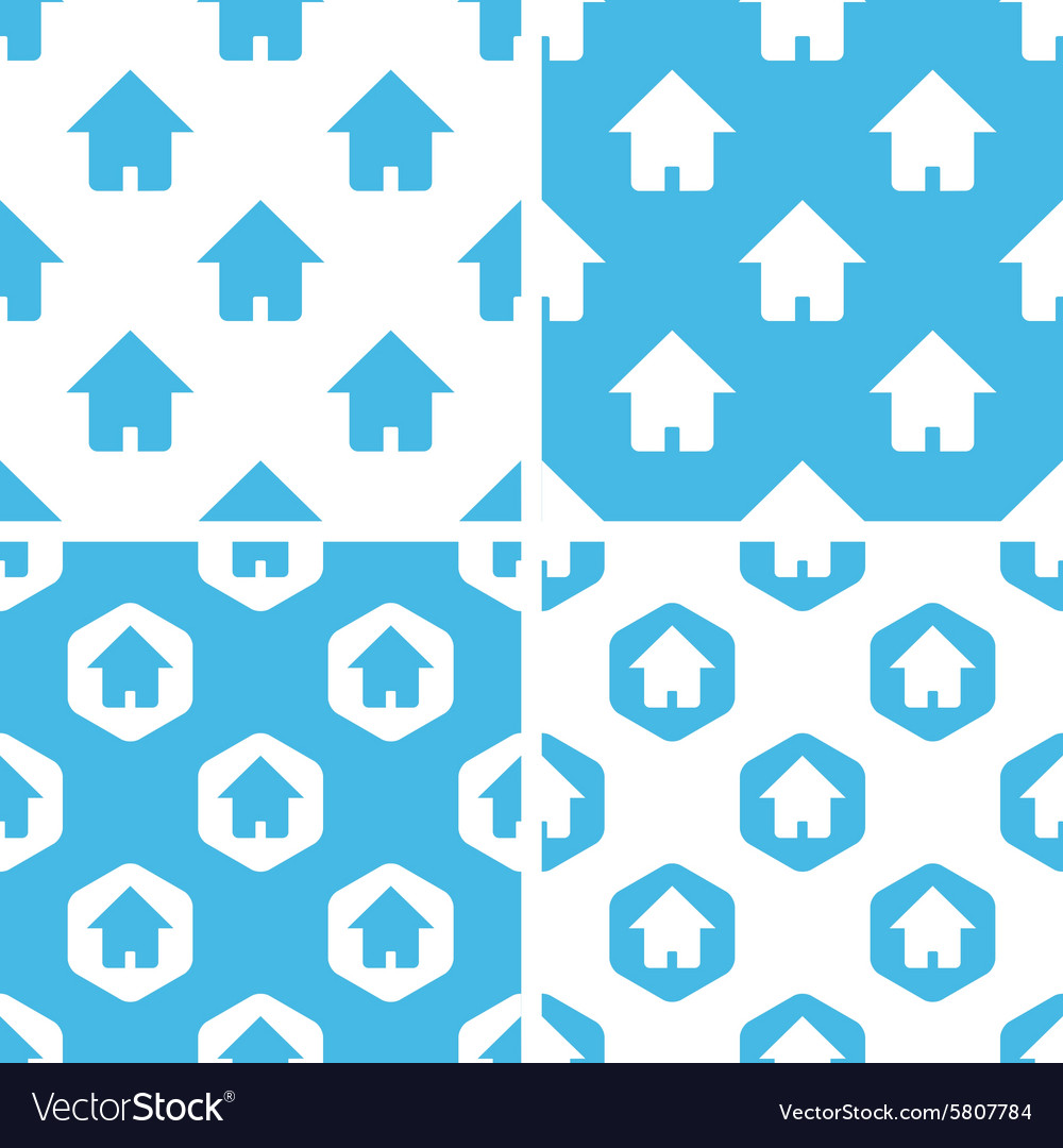 Home patterns set vector