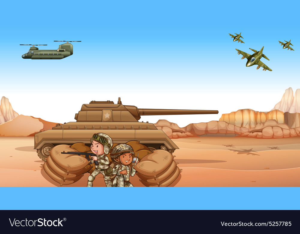 Battle field vector