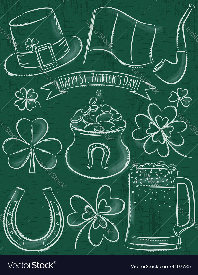 Design elements for st patricks day vector