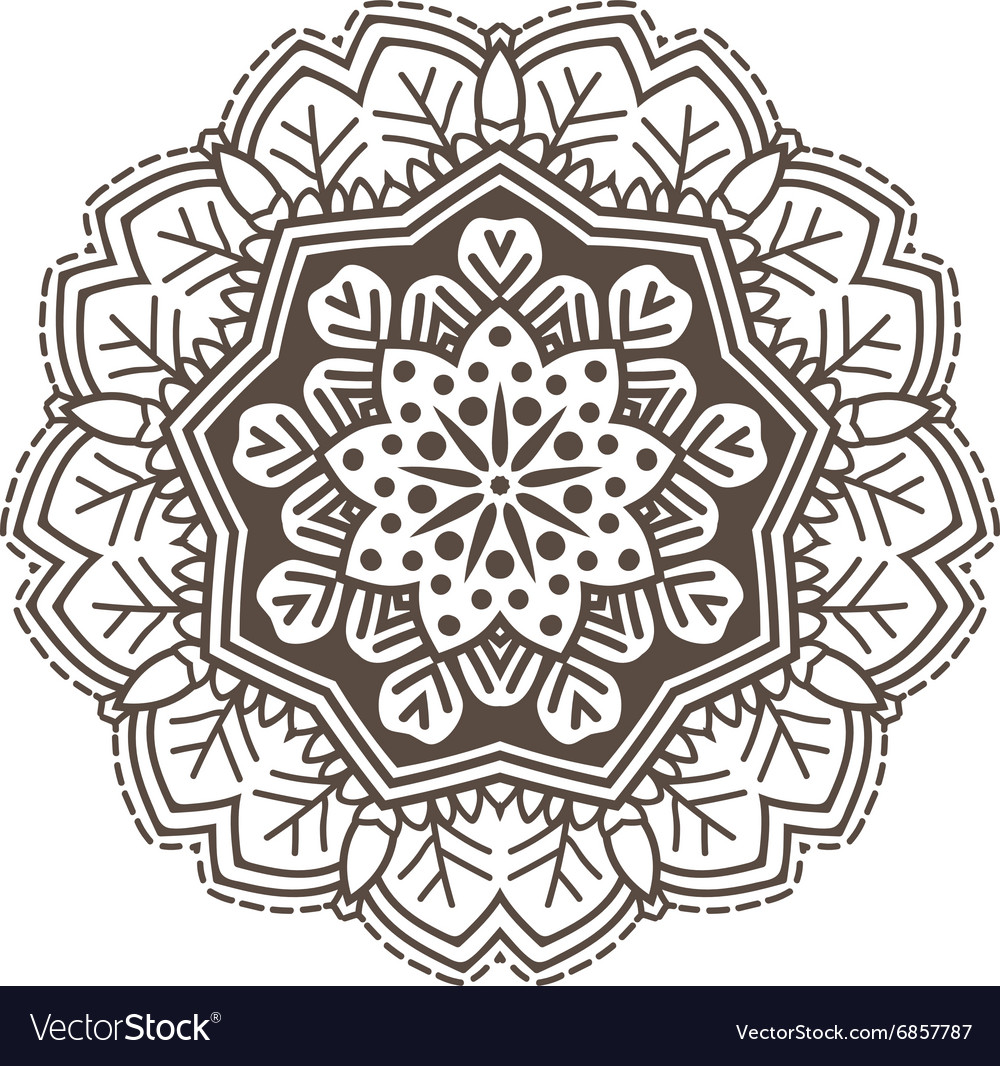 Ethnic fractal mandala meditation looks like vector