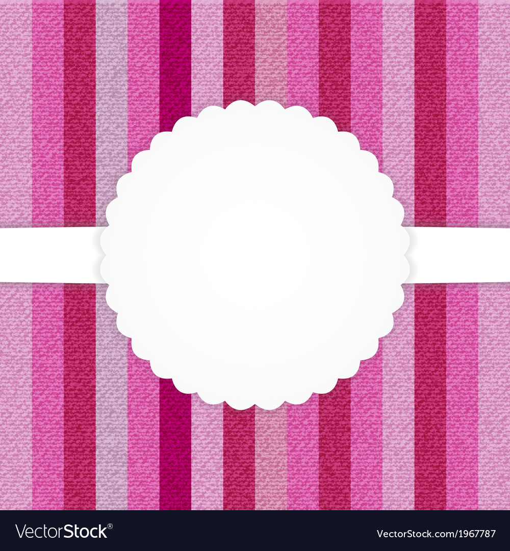 Pink vertical stripped jeans card vector