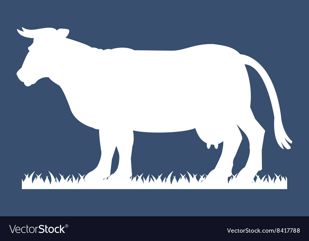 Cow silhouette vector