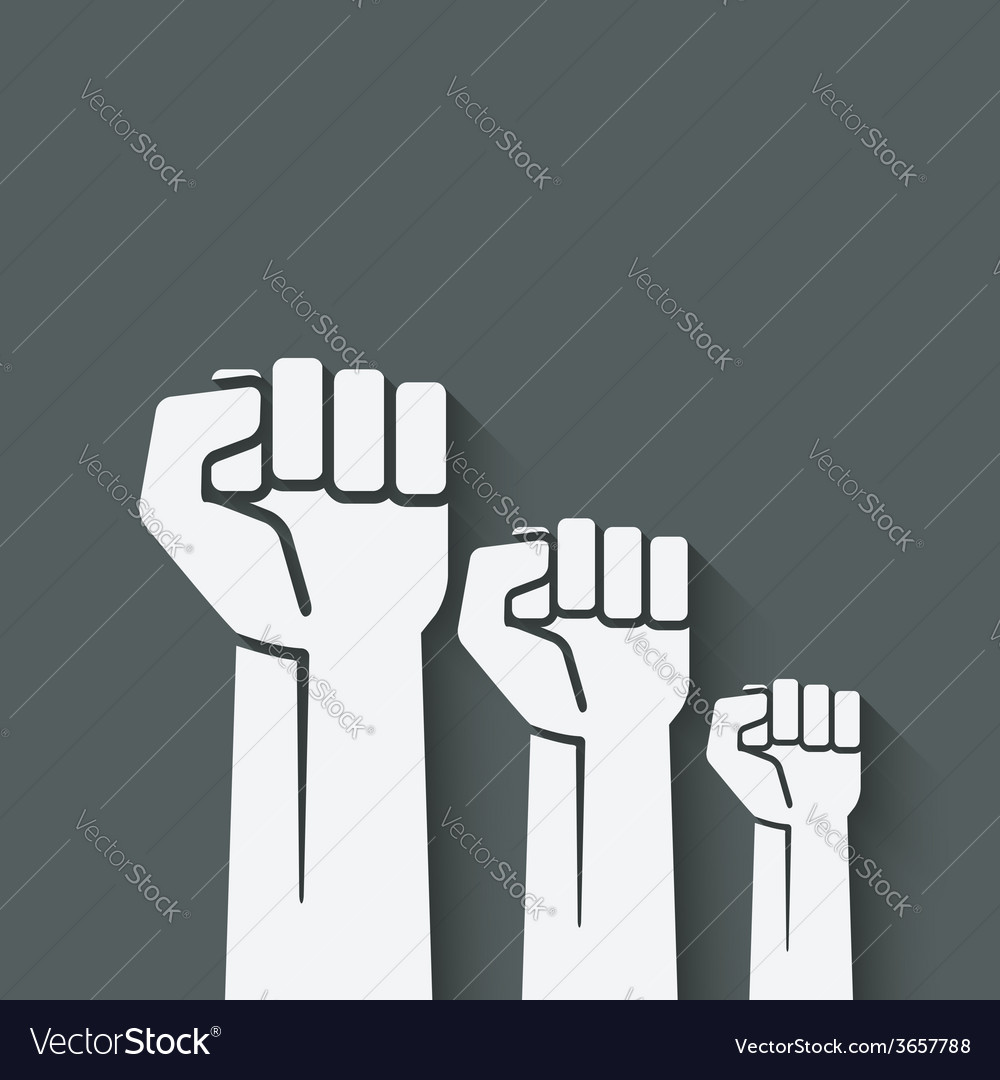 Fist independence symbol vector