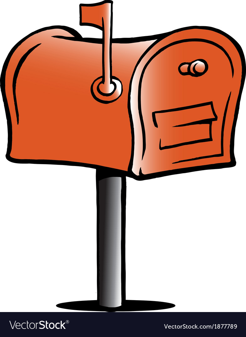 Handdrawn of an mailbox vector