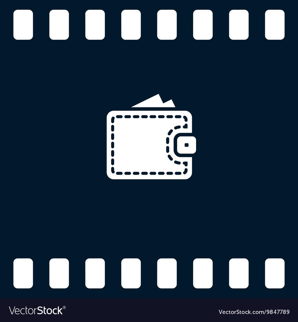 Wallet web icon vector