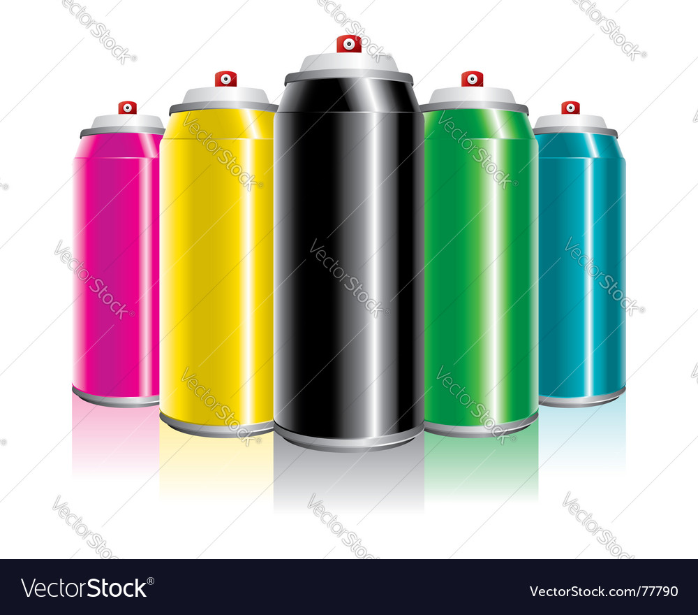 Spray cans vector