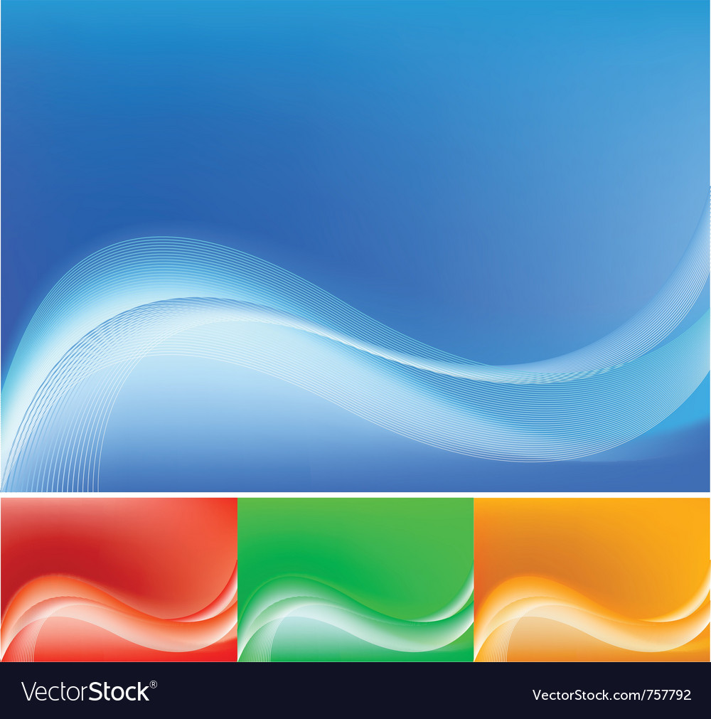 Blue abstract composition background vector