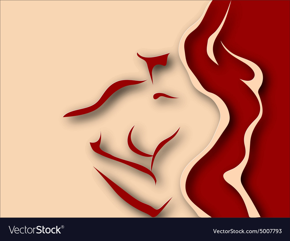 Woman and man torso paper design vector