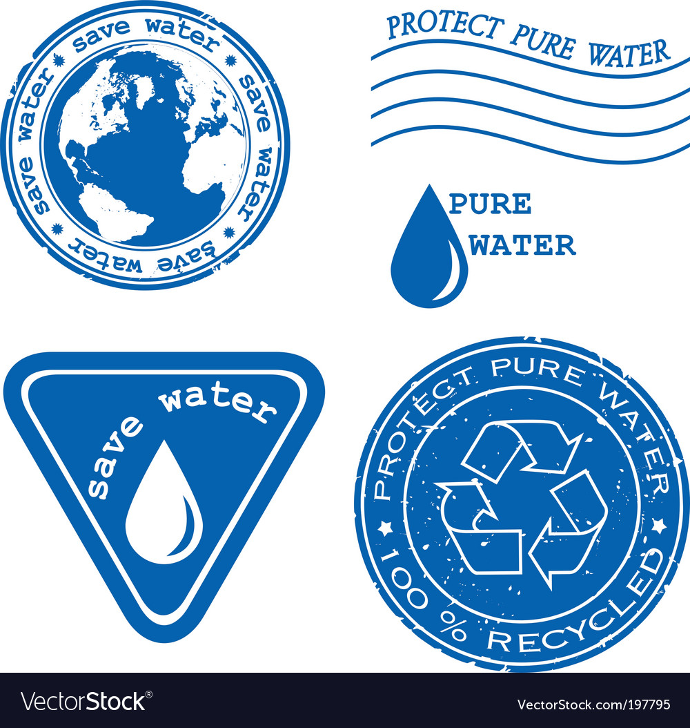Save water stamp vector