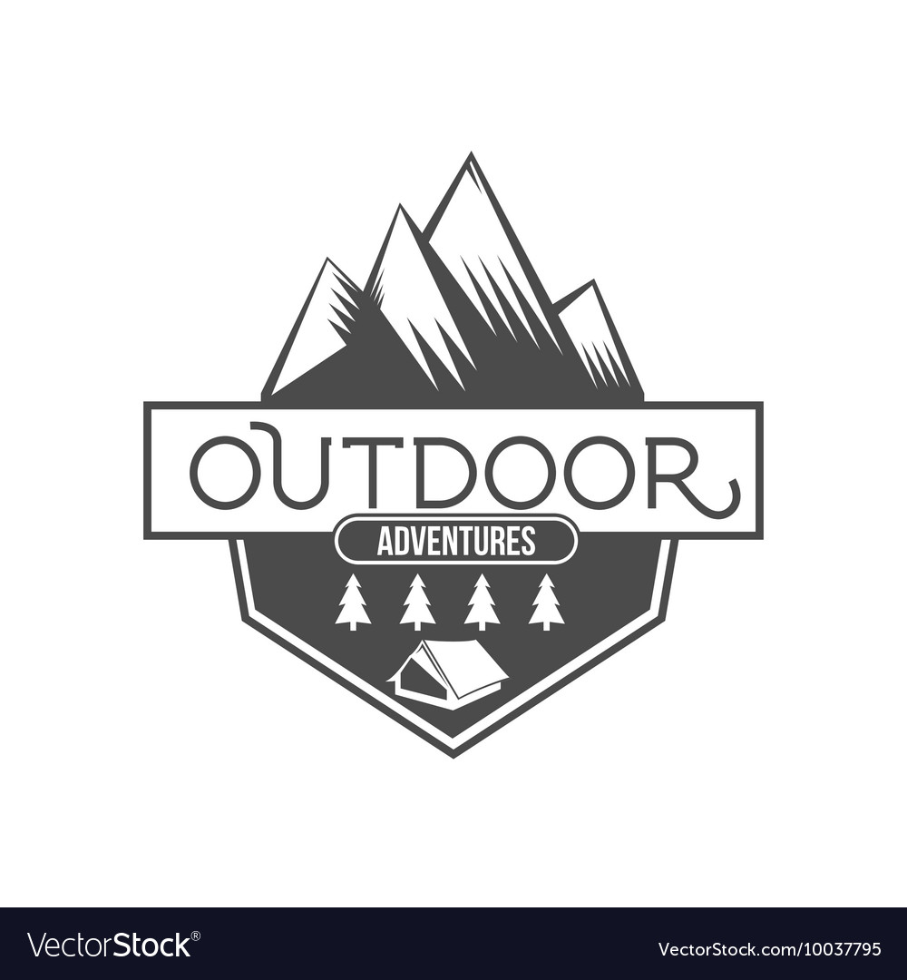 Vintage mountain explorer labels badge or logo vector
