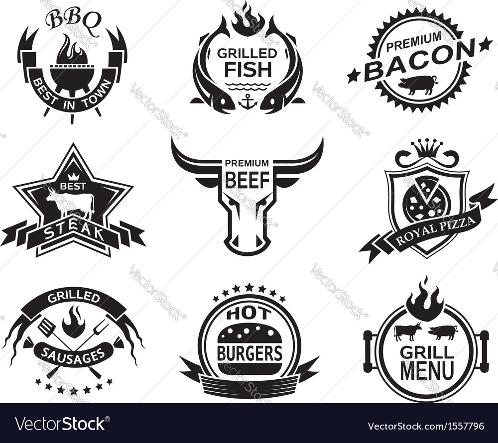 Restaurant designs vector