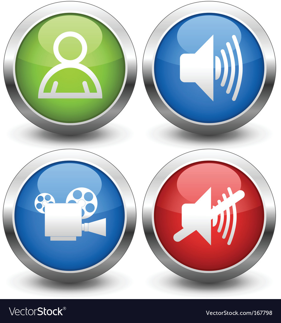 Film buttons vector
