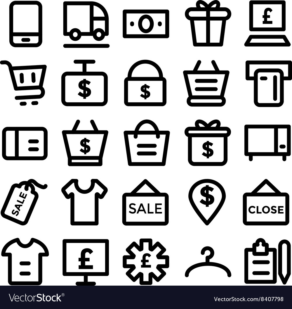 Shopping icon 8 vector