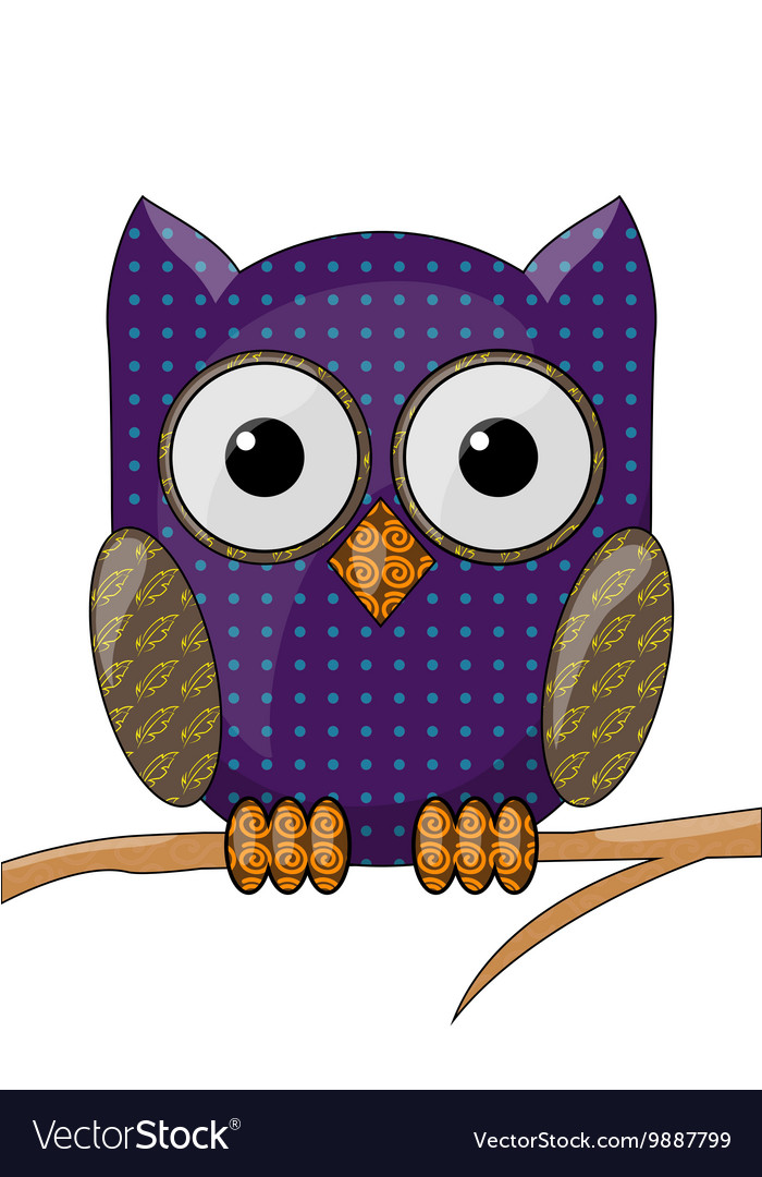 Owl with a pattern vector
