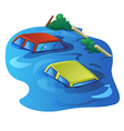 car drown vector image