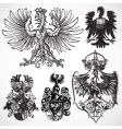 eagle gothic ornaments vector image vector image