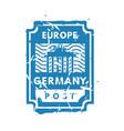 vintage postage europe mail stamp vector image