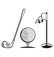 Golf icon set vector image vector image