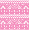 Tribal pattern pink aztec print - old grunge vector image
