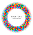 Colorful Bright Abstract Halftone Design Element vector image