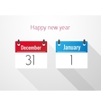 Fat Calendar From December to January vector image