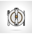 Tableware flat color icon vector image