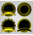 gold-framed labels set vector image vector image