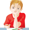 drawing of a boy vector image