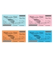 Set of Colorful Philharmonic Tickets with Violin vector image