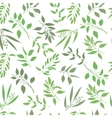 seamless plant background Endless pattern vector image
