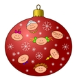 christmastree decoration with faces vector image