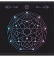 geometric icon magic 4 vector image