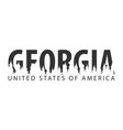 georgia usa united states of america text or vector image