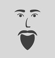 icon of a bearded man vector image
