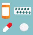 Medication icon set vector image