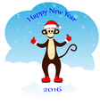 monkey dressed as Santa vector image
