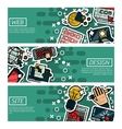 Set of Horizontal Banners about web design vector image
