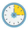 time management flat icon seo and development vector image