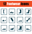 Set of footwear icons vector image vector image