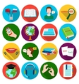 Interpreter and translator set icons in flat style vector image