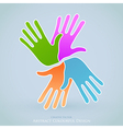 Creative People Hands Symbol vector image vector image