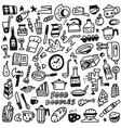 Food - doodles vector image