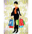 lady shopper vector image