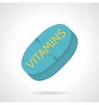 Flat icon for vitamin supplements vector image