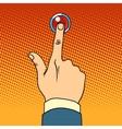 visitor presses call button vector image