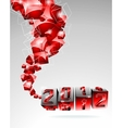 calendar design 2012 with swirl cubes vector image