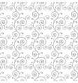 Abstract monochrome curve seamless pattern vector image vector image