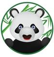 funny panda cartoon vector image